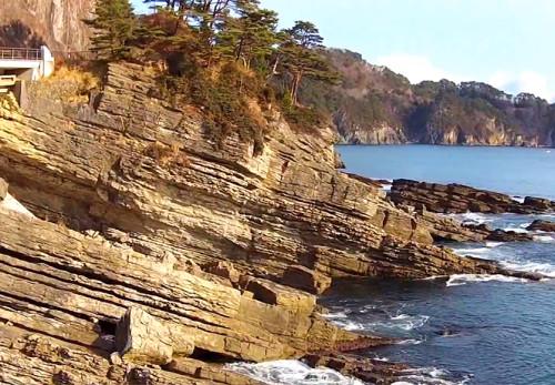 ひらなめ海岸を空撮動画