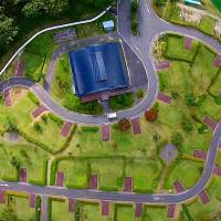 ふれあいランド岩泉オートキャンプ場を空撮動画