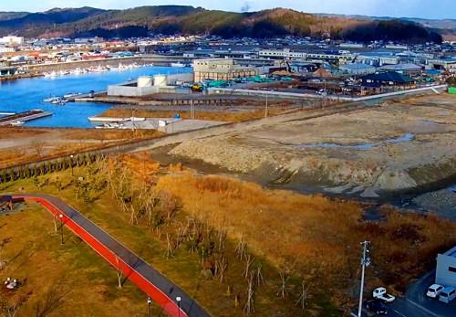 久慈港海岸を空撮動画