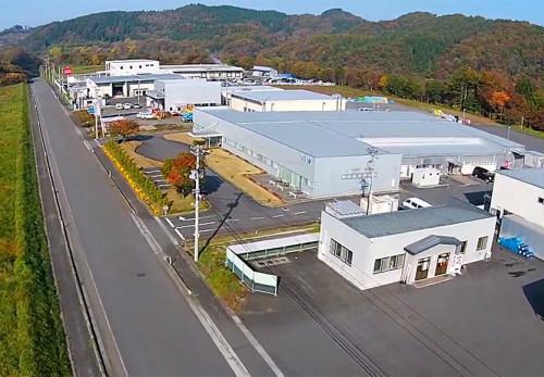 二戸地区拠点工業団地を空撮動画