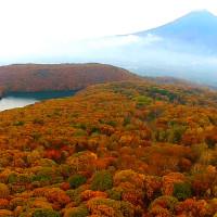八幡平の紅葉を空撮動画