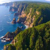 北山崎を空撮動画