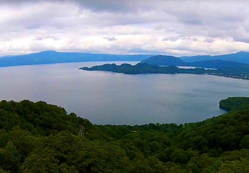 十和田湖を空撮動画で