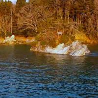 大理石海岸-を空撮動画