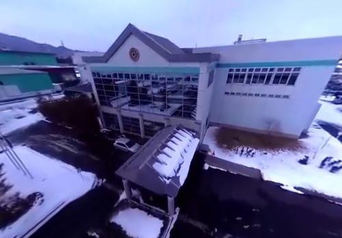 川口印刷工業株式会社を空からモーションVR