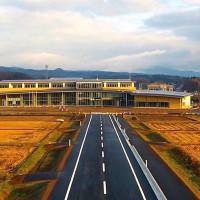 建設中の八幡平市新庁舎を空撮動画