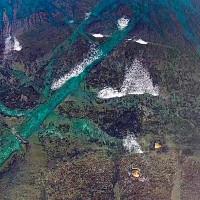 洋野町ウニ増殖溝を空撮動画