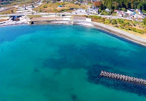 浪板海岸を空撮動画で