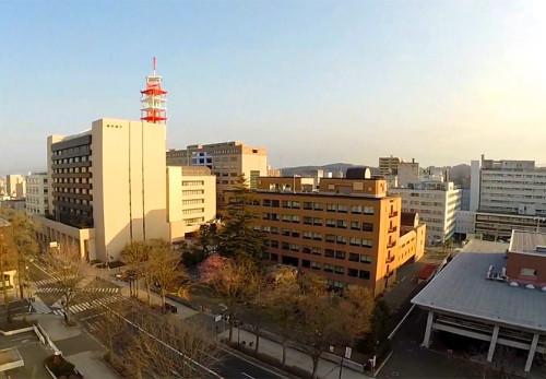 盛岡市内丸周辺を空撮動画