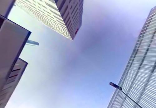 盛岡駅西口附近をモーションVR