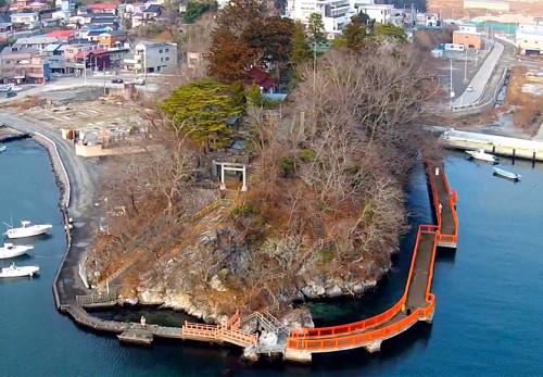 神明崎を空撮動画