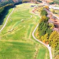 稲庭パークゴルフ場を空撮動画