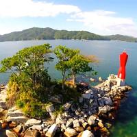 蓬莱島(ひょっこりひょうたん島)を空撮動画