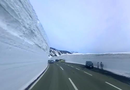 雪の回廊をモーションVR