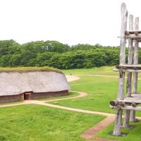 三内丸山遺跡を空撮動画