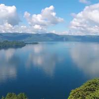十和田湖-瞰湖台を空撮動画