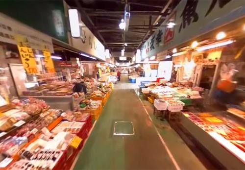 宮古市魚菜市場をモーションVR