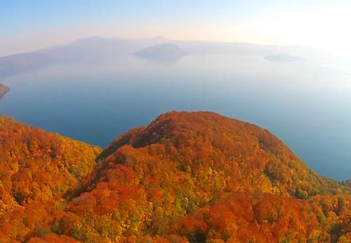 滝ノ沢展望台の紅葉