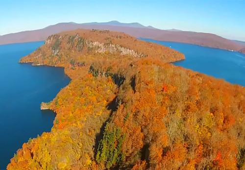 瞰湖台-紅葉