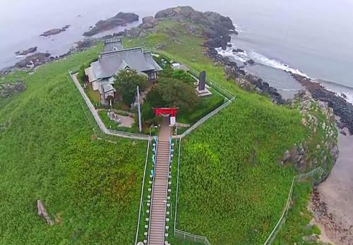 蕪島を空撮動画