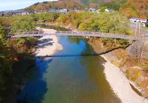 西和賀町焼地台公園を空撮動画